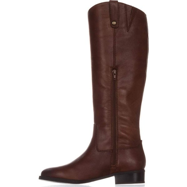 INC International Concepts Womens Fawne Leather Round Toe Knee High Riding Bo.... Opens flyout.
