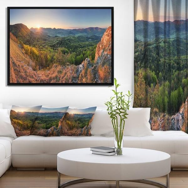 Designart Spring Forest Slovakia Landscape Photography Framed Canvas Print Overstock 18953147