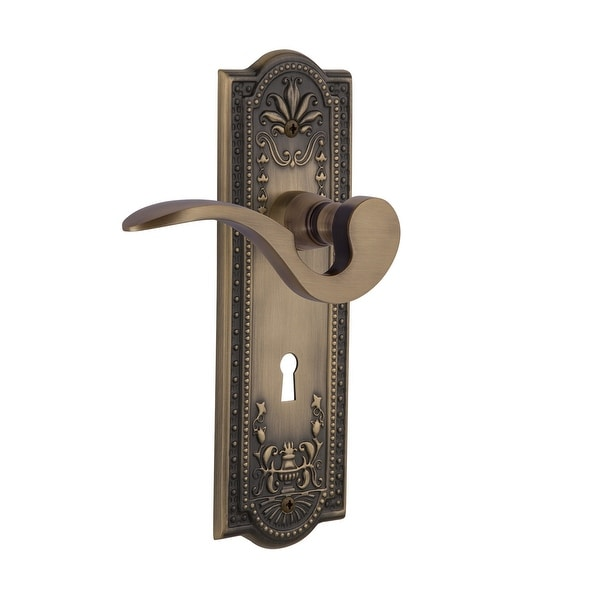 Nostalgic Warehouse MEAMAN_SD_KH_RH Manor Right Handed Non-Turning One-Sided Door Lever with Meadows Rose and Decorative
