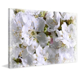 Marmont Hill Apricot Blossoms Aryai Painting Print on Canvas