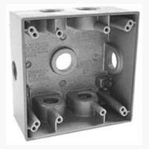 """Bell 5338-0 Double Gang Weatherproof Outlet Box, 7-1/2"""""""