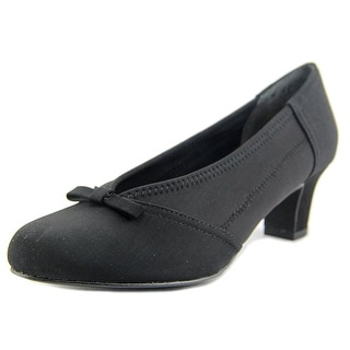 Ros Hommerson Harper Women SS Round Toe Synthetic Black Heels