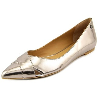 Calvin Klein Gailia Pointed Toe Leather Flats