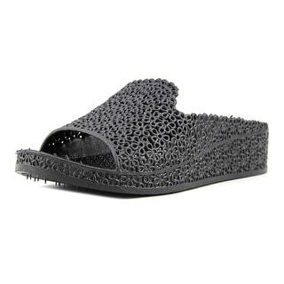 Jeffrey Campbell Fling Women  Open Toe Synthetic Black Wedge Sandal