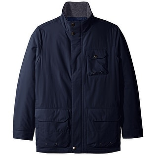 Nautica NEW Blue Grey Mens 2XL Multi-Pocket Windbreaker Parka Jacket