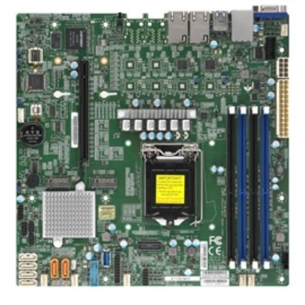 Supermicro Motherboard MBD-X11SCM-F-B Core i3 LGA1151 C246 PCI Express SATA Micro-ATX 128GB DDR4 Bulk Pack - Pictured. Opens flyout.