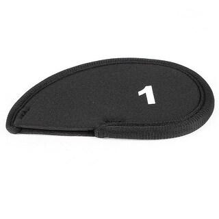 Unique Bargains Golf Head Cover Club Iron Putter Head 1 Wedge Protector Case Black