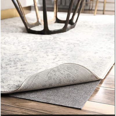 Thick Grey Non-slip Noise-reducing Rug Pad for Hardwood Floors