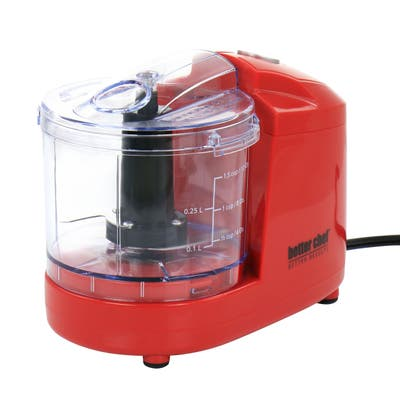 Better Chef Compact 12 Ounce Mini Chopper in Red