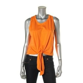 Zara Trafaluc Womens Cotton Front Tie Tank Top