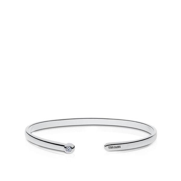 University of Southern California Engraved Sterling Silver Diamond Cuff Bracelet. Opens flyout.