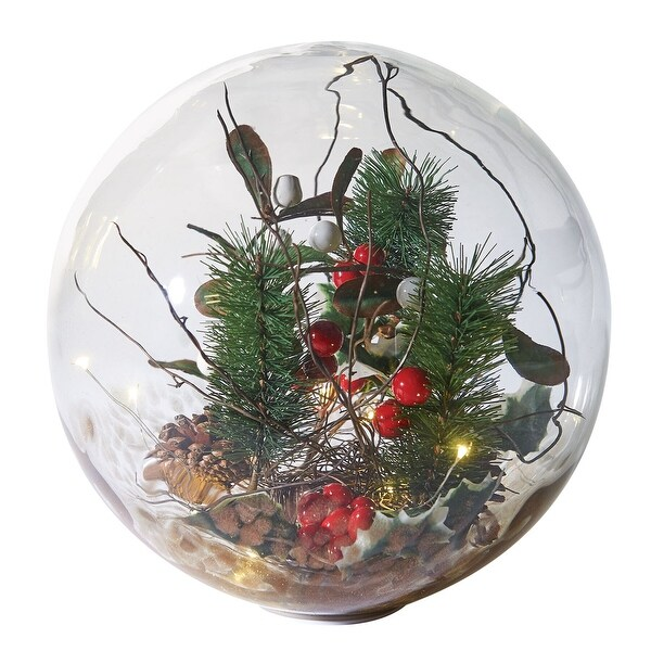 Shop Art & Artifact LED Lighted Glass Holiday Orb - Hand