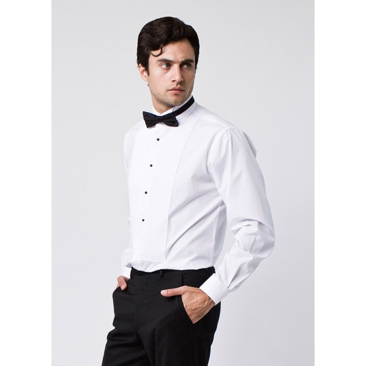 tuxedo shirt and bow tie