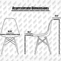 2xhome - Set of 2 , White Designer Plastic Eiffel Chairs Solid Wood Legs Dining - Thumbnail 2