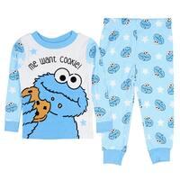 Sesame Street Baby Boys' Cookie Monster Me Want Cookie 2 PC Pajama Set