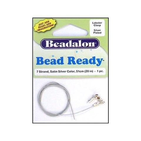 Beadalon Bead Ready Wire w/Lobster Clasp Silver