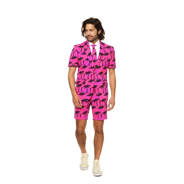 Black and Pink Men Adult Tropicool Suit - Extra Large - x-large