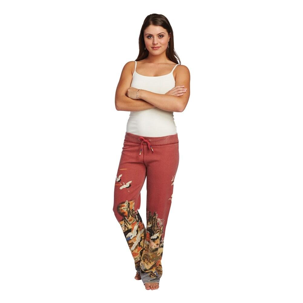 marketable los angeles super specials Women's Asian Print Lounge Sweatpants - 100% Cotton