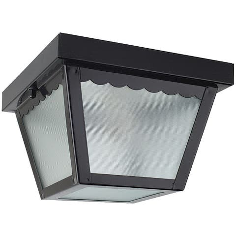 Sunset Lighting Outdoor Flush Mount - Dimmable Light  with Black Finish