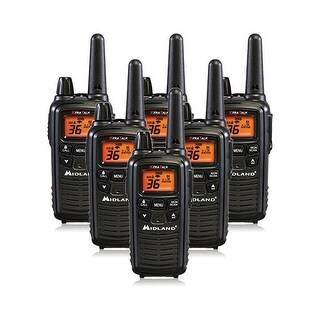 Midland Xtra Talk LXT600VP3 Two Way Radio w/ 36 Selectable Channels & 121 Privacy Codes- 6 Pack