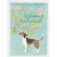 Carolines Treasures BB7601GF Welcome Friends Beagle Flag Garden - Size