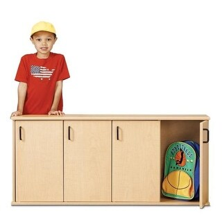 Young Time 7107YR441 4-Section Stackable Locker with Doors