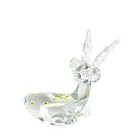 "CYS® Glass Reindeer, Clear Multi Color. H-6.5"" (Pack of 2 pcs)"