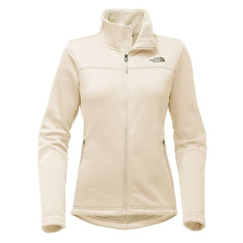 The North Face Women's Timber Full Zip Fleece Jacket Vintage White