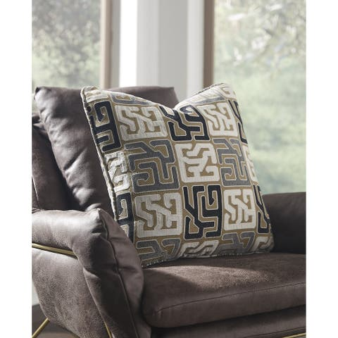 Tillamook Multi-Color Geometric Indoor/Outdoor Throw Pillow