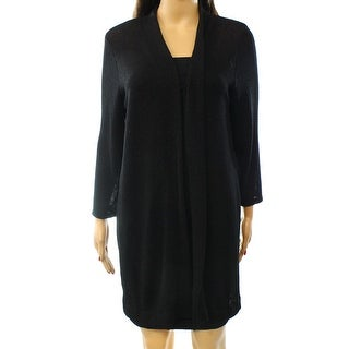 Alfani NEW Black Women's Size Small S Open Front Cardigan Sweater