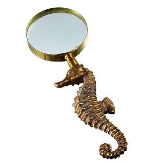Pack of 2 Gold and Brown Seahorse Shaped Magnifying Glass Costume Accessories 9.25""