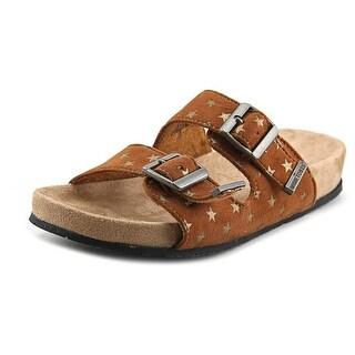 Minnetonka Gigi Open Toe Canvas Slides Sandal