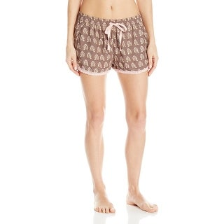 P.J. Salvage NEW Cocoa Brown Womens Size Large L Printed Lounge Shorts