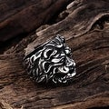 Vienna Jewelry Lion King Stainless Steel Ring - Thumbnail 1