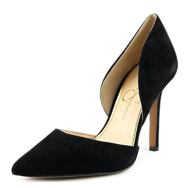 Jessica Simpson Cenya Women  Pointed Toe Suede Black Heels