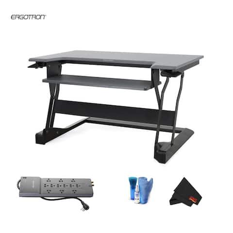 Ergotron WorkFit-T Sit-Stand Desktop Workstation - Bundle