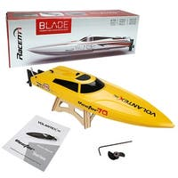 Costway Volantex Vector 70 RC Boat Brushless PNP Racing Boat No Radio Motor Servo Yellow