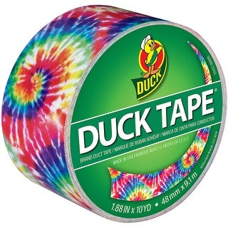 "Duck 283268 Printed Duct Tape, Love Tie Dye, 1.88"" x 10 Yard Roll"