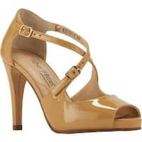 Rose Petals by Walking Cradles Women's Lissa Ankle Strap Sandal Nude Patent Leather