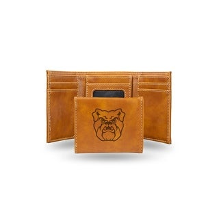 4 Brown College Butler Bulldogs Laser Engraved Trifold Wallet N A