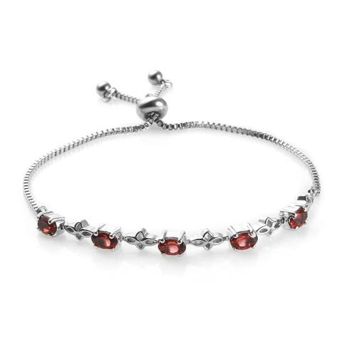 Stainless Steel Bolo Tennis Bracelet with Adjustable Steel Chain