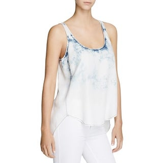 Aqua Womens Tank Top Tencel Tie-Dye