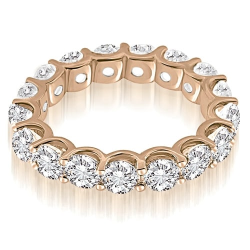 3.75 cttw. 14K Rose Gold Classic U-Prong Round Diamond Eternity Band Ring