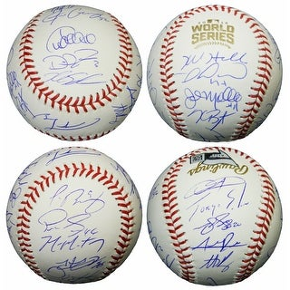 2016 Chicago Cubs Team Rawlings Official 2016 World Series Baseball 23 Sigs