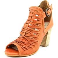 Charles By Charles David Coll Women  Open-Toe Leather Orange Slingback Heel