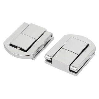 Wooden Case Toolbox Alloy Toggle Latches Hasp Lock Silver Tone 24x20x6mm 2pcs