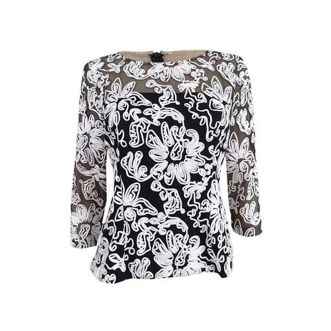 Alex Evenings Women's Floral Lace Blouse