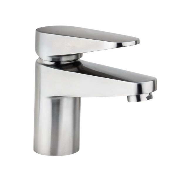 Miseno Ml082 Single Hole Stainless Steel Bathroom Faucet With Push Pop Drain Embly N