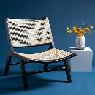 "Link to Safavieh Couture Auckland Rattan Dining Chair - 25.6""x30.9""x30.7"" Similar Items in Living Room Chairs"