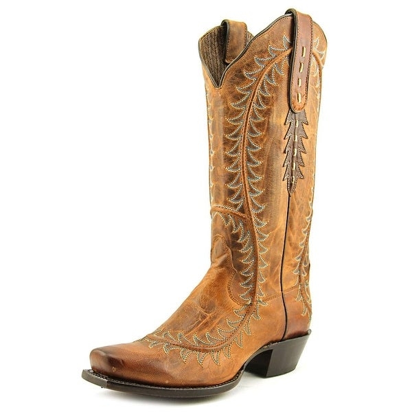 Nocona NL5030 Women Square Toe Leather Tan Western Boot